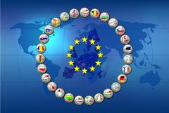 European Union countries Royalty Free Stock Images