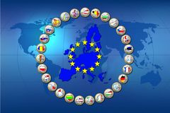 European Union countries Stock Image