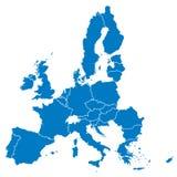 European Union countries, isolated on white background, English labeling. European Union, isolated on white background, with all single countries. All 28 EU Stock Image