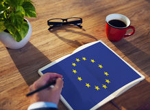 European Union Country Flag Nationality Culture Liberty Concept Stock Image