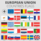 European Union country flags Stock Image