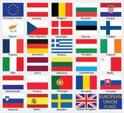 European Union country flags Royalty Free Stock Images