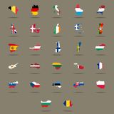 European Union country flags set. Stock Photo
