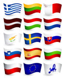 European Union country flying flags part 2 Stock Image