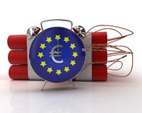 European union crisis bomb Stock Image