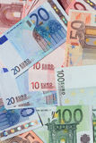 European Union Currency. Background made from European Union Currency banknotes Royalty Free Stock Photography