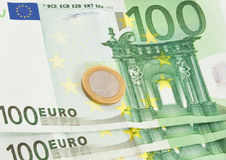 European union currency. Close up Royalty Free Stock Image