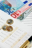 European Union currency. The European Union currency. Notes and coins Royalty Free Stock Images