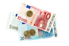 European Union currency. The European Union currency. Notes and coins Stock Image