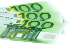 European Union currency. The European Union currency. One hundred bills royalty free stock photos