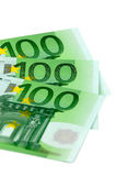 European Union currency. The European Union currency. One hundred bills Royalty Free Stock Images
