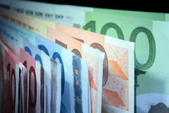 European Union Currency Background Royalty Free Stock Photos