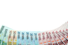 European Union Currency Border Royalty Free Stock Photos