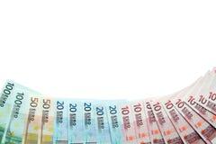 European Union Currency Border. Border made from European Union Currency banknotes Royalty Free Stock Photos