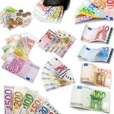 European Union Currency. European Union Euro Note Currency Paper Currency Green Isolated One Hundred Euro Banknote Royalty Free Stock Image