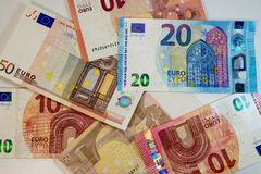 European union currency - paper euro banknotes - finance Royalty Free Stock Photo