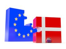 European union with Denmark Royalty Free Stock Photos