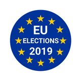 European Union elections 2019. Illustration royalty free illustration