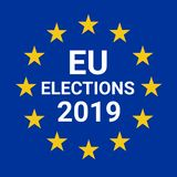 European Union elections 2019 vector illustration