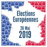 European Union elections 2019 in France. Illustration stock illustration