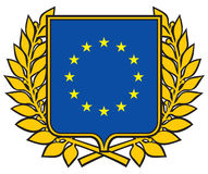 European union emblem. Symbol that describes the European Union countries Royalty Free Stock Photos