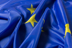 European Union. EU Flag close up Stock Photography