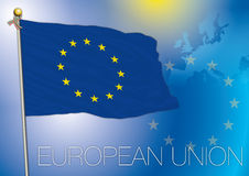 European union, eu flag, europe. Original file european union flag vector illustration