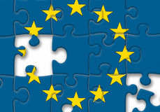 European union EU flag puzzle on the white background Royalty Free Stock Image