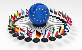 European Union EU International Network Relations Royalty Free Stock Image
