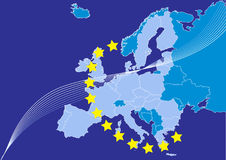 European union,europa map Royalty Free Stock Photography