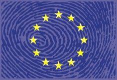 European union finger print concept– stock illustration. European union finger print Royalty Free Stock Photos