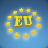 European Union flag. 3d illustration royalty free illustration