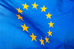 European Union flag. The blue European Union flag Royalty Free Stock Images
