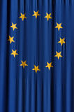 European union flag. European union blue flag with yellow stars Royalty Free Stock Image