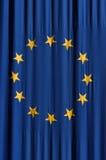 European union flag. European union blue flag with yellow stars Stock Photo