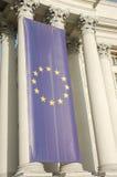 European Union Flag. On the pillar Royalty Free Stock Photos