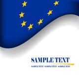 European Union flag. Blue and yellow european union flag Royalty Free Stock Image