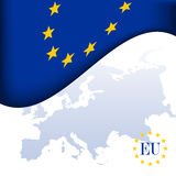 European Union flag. Blue and yellow european union flag Stock Images