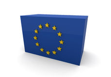 European Union Flag block Stock Images