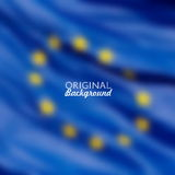 European Union flag blurred background Royalty Free Stock Photography