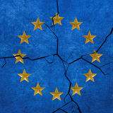 European union flag breaking. Apart Royalty Free Stock Image