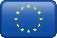 European Union Flag Button Royalty Free Stock Images