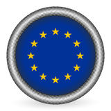 European union flag button Royalty Free Stock Photos