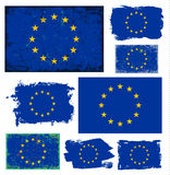 European Union flag collection vector Stock Photo