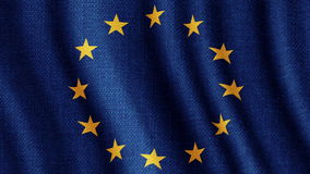 European union flag council of europe stock video