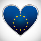 European union flag design Stock Image
