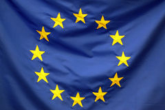European Union flag detail Royalty Free Stock Image