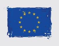 European Union Flag Flat - Artistic Brush Strokes and Splashes Royalty Free Stock Photography