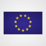 European Union flag on a gray background. Vector illustration Stock Photos