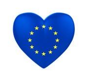 European Union Flag Heart Royalty Free Stock Image